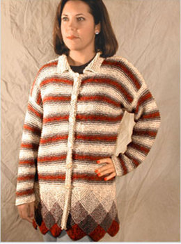 Stripes Squares Jacket in Knit One Crochet Too 2nd Time Cotton - 1114
