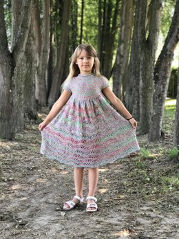 Wave Dress For Little Miss