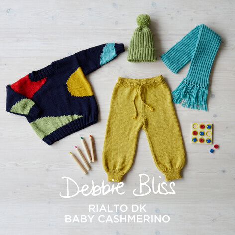Abstract Landscape - Layette Knitting Pattern For Toddlers in Debbie Bliss Rialto DK & Baby Cashmerino by Debbie Bliss