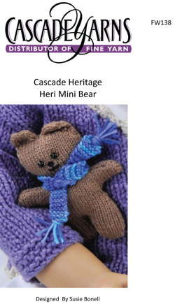 Heri Mini Bear in Cascade Heritage - FW138