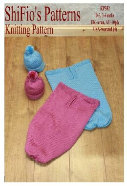 Knitted Pattern baby cocoon UK & USA Terms #332
