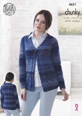 Cardigans in King Cole Cotswold Chunky - 4631 - Downloadable PDF