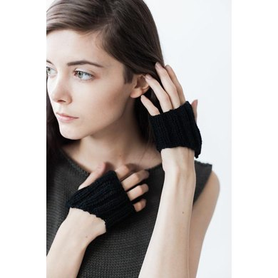 Rib Knit Half Gloves