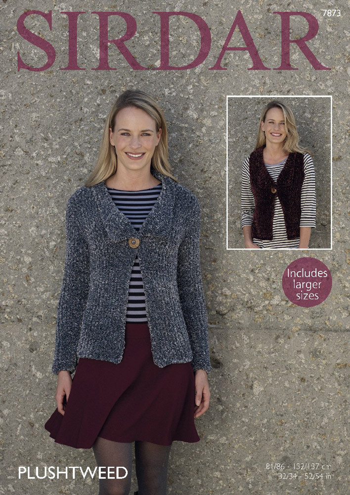 Jacket and Waistcoat in Sirdar Plushtweed - 7873 - Downloadable PDF