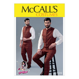 McCall's Men's Single or Double-Breasted Vests and Flat-Front Pants M7399 - Sewing Pattern