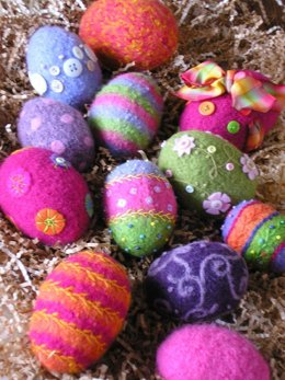 Felted Woolly Eggs Pattern