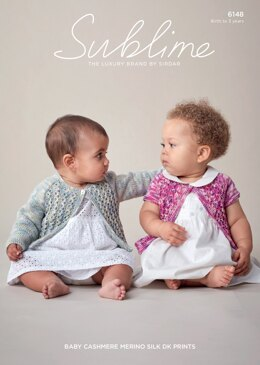 Cardigans in Sublime Baby Cashmere Merino Silk DK Prints - 6148 - Downloadable PDF