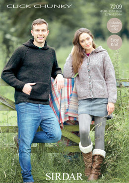 Jacket and Sweater in Sirdar Click Chunky - 7209 - Downloadable PDF