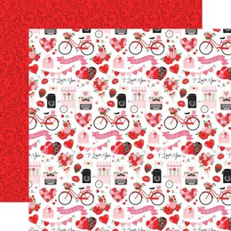 """Echo Park Paper Cupid & Co. Double-Sided Cardstock 12""""X12"""" - I Love You"""