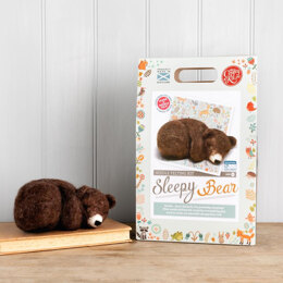 The Crafty Kit Company Sleepy Brown Bear Needle Felting Kit - 190 x 290 x 94mm
