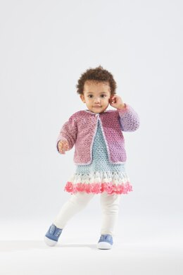 Tea Party Dress and Cardi in Lion Brand Mandala - Downloadable PDF