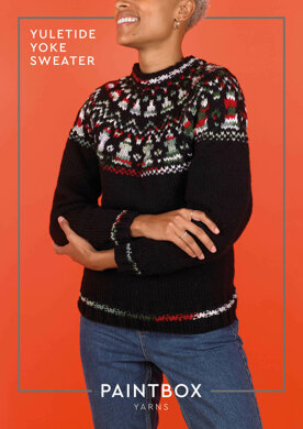Yuletide Yoke Sweater in Paintbox Yarns Simply Chunky & Chunky Pots - Downloadable PDF