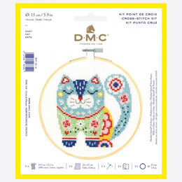 DMC Cross Stitch Kit - Cat - 25cmx25cm