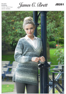 Sweater in James C. Brett Woodlander DK - JB261