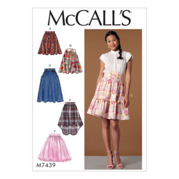 McCall's Misses' Gathered and Flared Skirts with Belt M7439 - Sewing Pattern