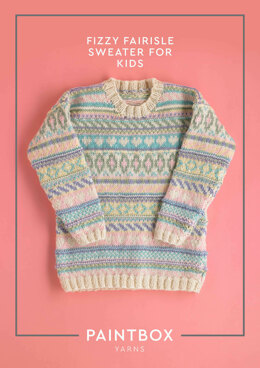 Fizzy Fairisle Jumper for Kids - Free Knitting Pattern in Paintbox Yarns Wool Mix Aran
