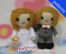 Wedding Bride and Groom - Amigurumi Crochet Patterns