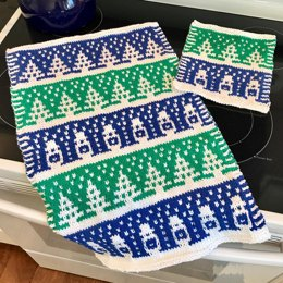 Slip Stitch Winter Kitchen