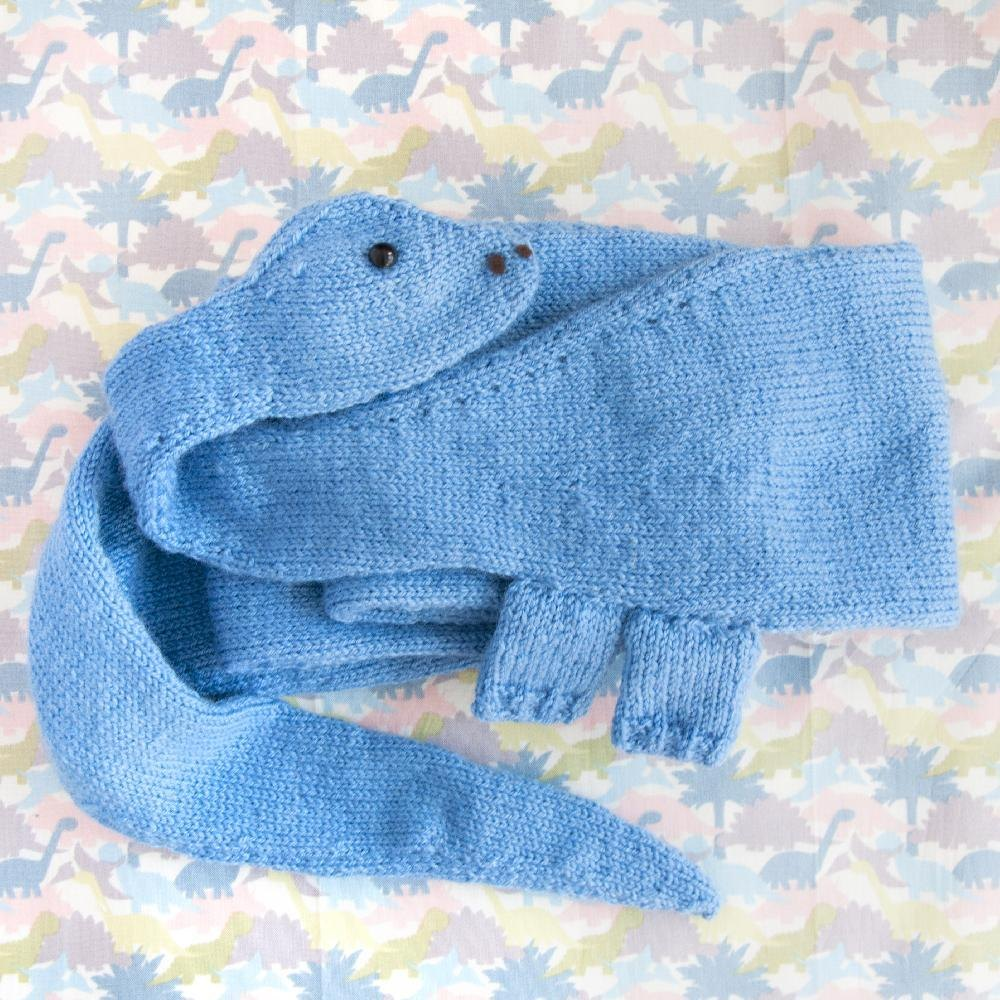 Baby Dinosaur Knitting Pattern : Diplodocus Dinosaur Scarf Knitting pattern by Louise Walker Knitting Patter...