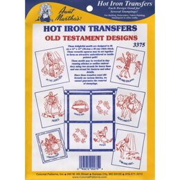 Aunt Martha's Hot Iron Transfers - Old Testament - TPC3375 - Leaflet