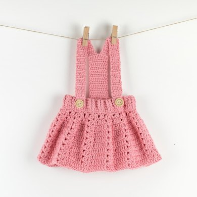 Cute Crochet Baby Dress Peony Twirl