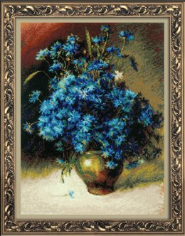 Riolis Cornflower Cross Stitch Kit - 30cm x 40cm