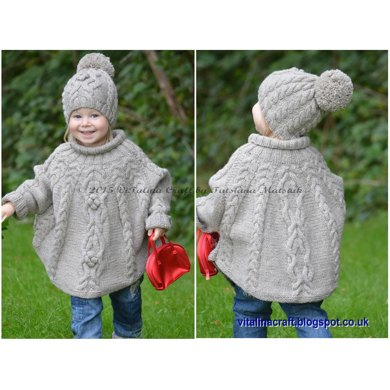 Temptation Poncho And Hat Set Knitting Pattern By Vitalina Craft