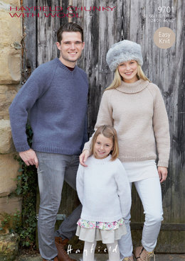 Sweaters in Hayfield Chunky with Wool - 9701 - Downloadable PDF
