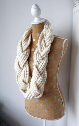 Crochet Braided Infinity Scarf
