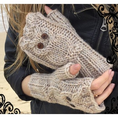 Play Owl Mitts Knitting Pattern By The Lonely Sea Knitting
