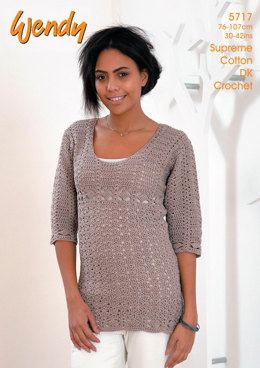 Crochet Tunic In Wendy Supreme Cotton DK - 5717