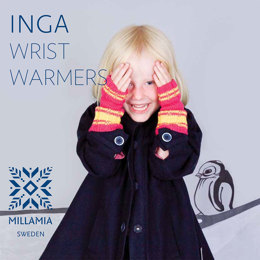 Inga Wristwarmers in MillaMia Naturally Soft Merino - Downloadable PDF