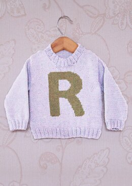 Intarsia - Letter R Chart - Childrens Sweater