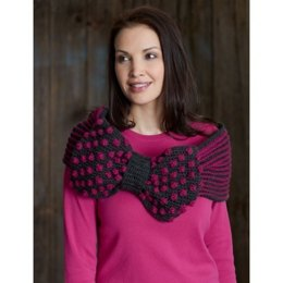 Ribbon and Bow Cowl in Patons Canadiana