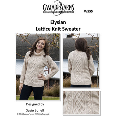 Lattice Knit Sweater in Cascade Elysian - W555