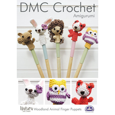 Woodland Animal Finger Puppets in DMC Natura Just Cotton - 15213L/2