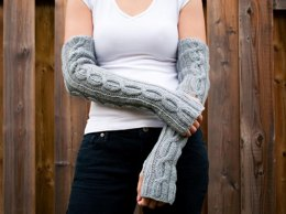 Kare Knits' Cable Twist Arm/Wrist Warmers