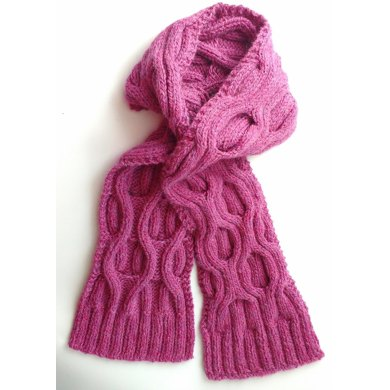 Chunky Cable Scarf Knitting Pattern By Laura Whittington