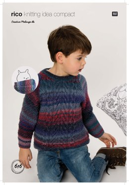 Sweater and Loop in Rico Creative Melange DK - 616 - Downloadable PDF