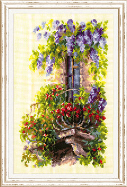 Magic Needle Blossoming Balcony Cross Stitch Kit