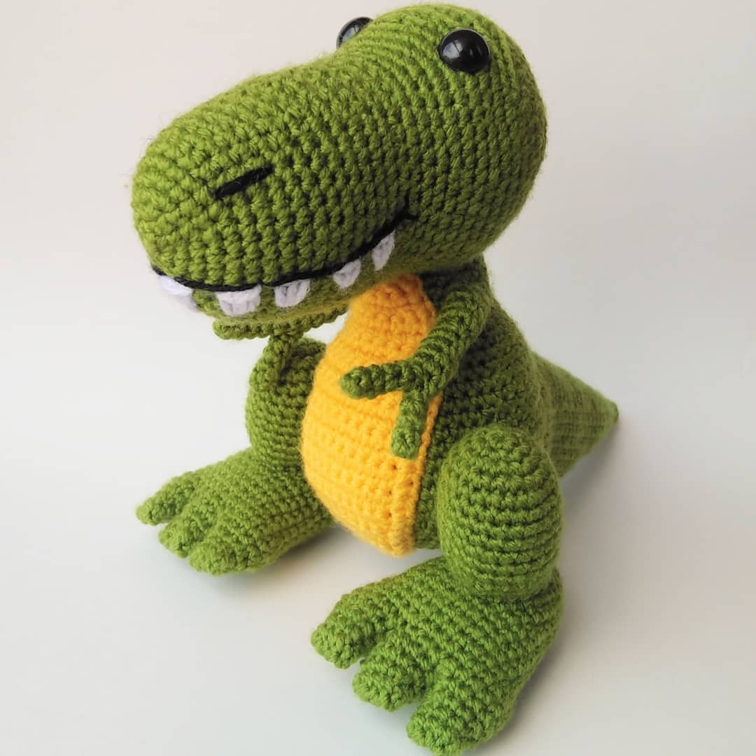T-Rex Amigurumi crochet project by Hi Bluecap | LoveCrochet