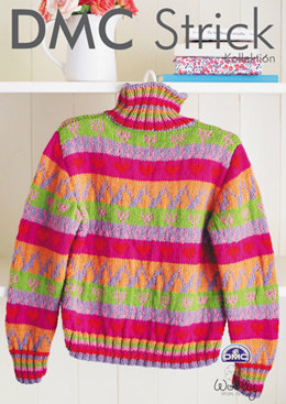 Colourful Jumper in DMC Woolly - 15201L/2