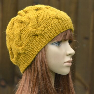 Womens Cable Beanie KPWB02 in Wendy Serenity Chunky
