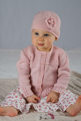 Abigail Cardi and Hat - Baby Cakes by Little Cupcakes - Bc39