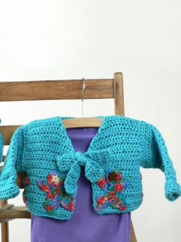 Around The World Baby Cardigan and Hat in Caron Simply Soft and Simply Soft Brites - Downloadable PDF