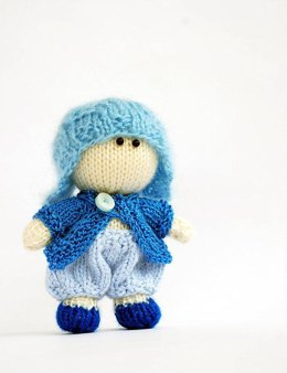 Small Boy Doll in the blue hat