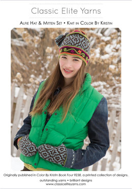Alfie Hat and Mittens in Classic Elite Yarns Color by Kristin - Downloadable PDF