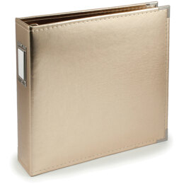 """We R Memory Keepers We R Classic Leather D-Ring Album 12""""X12"""" - Gold"""