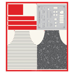 Moda Fabrics Cut Sew Create Apron & Tea Towel Panel