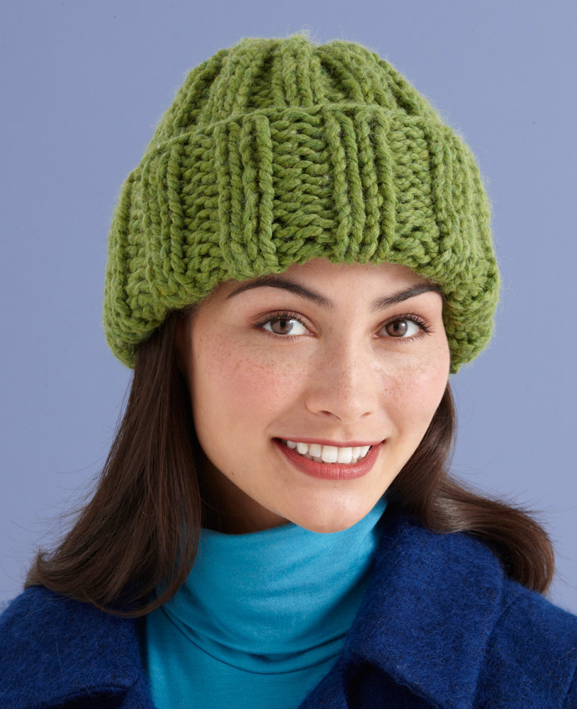 Solstice Hat In Lion Brand Wool Ease Thick Amp Quick L10598 Knitting Patterns